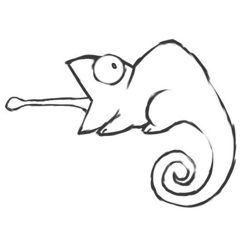 Chameleon Outline Tattoo: Getting A Chameleon Tattoo! = )