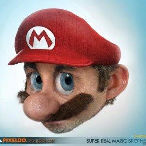 Real life Mario...just plan creepy.